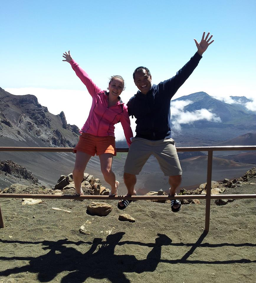 Niki and I at Mount Haleakala. Maui, Hawaii