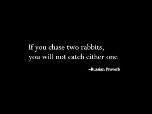 MLM Success- Don't Chase Two Rabbits